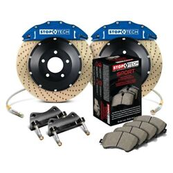 For Bmw 328i Xdrive 09-11 Performance Drilled 2-piece Front Big Brake Kit