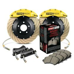 For Bmw 135i 08-13 Stoptech Performance Drilled 2-piece Front Big Brake Kit
