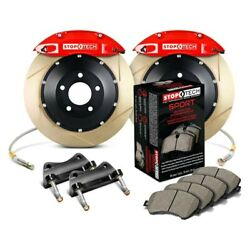 For Mitsubishi 3000gt 91-99 Performance Slotted 2-piece Front Big Brake Kit
