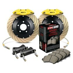 For Bmw 325ci 01-05 Stoptech Performance Drilled 2-piece Rear Big Brake Kit