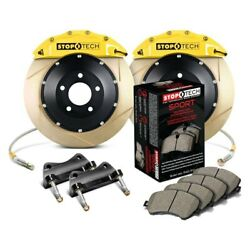 For Bmw 328i Xdrive 09-11 Performance Slotted 2-piece Front Big Brake Kit