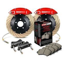 For Mazda 3 07-13 Stoptech Performance Drilled 2-piece Front Big Brake Kit