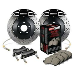 For Infiniti G35 03-04 Stoptech Performance Drilled 2-piece Rear Big Brake Kit