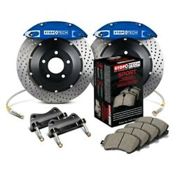 For Audi S3 15-19 Stoptech Performance Drilled 2-piece Front Big Brake Kit