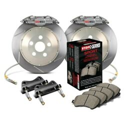 For Bmw 540i 97-03 Stoptech Trophy Sport Slotted 2-piece Rear Big Brake Kit