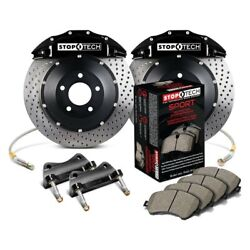 For Bmw 550i 06-10 Stoptech Performance Drilled 2-piece Front Big Brake Kit