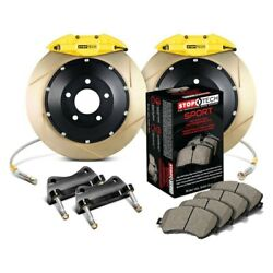 For Bmw 323i 97 Stoptech Performance Slotted 2-piece Rear Big Brake Kit