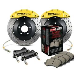 For Bmw 435i 14-16 Stoptech Performance Drilled 2-piece Front Big Brake Kit