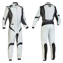 Omp Ia0185208356 One-s1 Series Silver W Black 56 Racing Suit