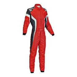 Omp Ia0185006364 Technica-s Series Red W White Nomex 64 Racing Suit
