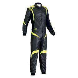 Omp Ia0185218454 One-s1 Series Anthracite W Yellow 54 Racing Suit