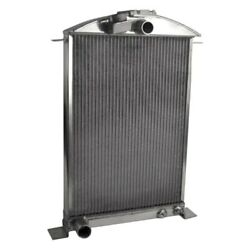 For Ford 1/2 Ton Pickup 36 Afco Street Rod Performance Radiator W Fan