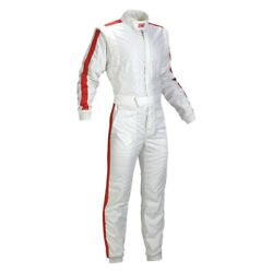 Omp Ia0184202046 One Vintage Series White Nomex 46 Racing Suit