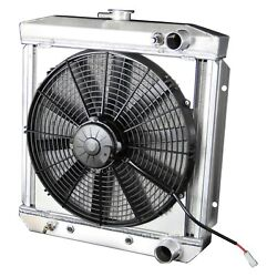 For Ford Mustang 67 Dewitts Direct Fit Pro-series Aluminum Radiator W Fan
