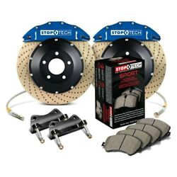 For Bmw 328i 07-13 Stoptech Performance Drilled 2-piece Front Big Brake Kit