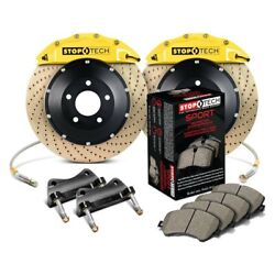 For Bmw 328i 07 Stoptech Performance Drilled 2-piece Front Big Brake Kit