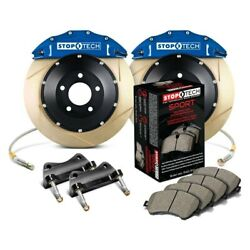 For Bmw 328i 07 Stoptech Performance Slotted 2-piece Front Big Brake Kit