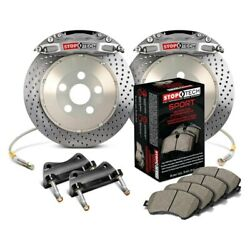 For Lexus Is350 14-15 Stoptech Trophy Sport Drilled 2-piece Rear Big Brake Kit