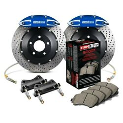 For Chevy Corvette 14-15 Stoptech Performance Drilled 2-piece Rear Big Brake Kit
