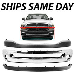 New Chrome Steel Front Bumper Face Bar Cover Combo For 2006-2008 Dodge Ram 1500