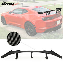 Fits 16-21 Chevy Camaro Zl1 1le Style Trunk Spoiler Wing - Real Carbon Fiber