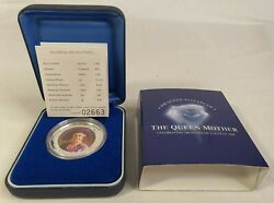 100 Years Of The Queen Mother 1 Troy Oz 99.9 Silver Coin Perth Mint 2000 Coa