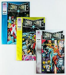 Deathmate Lot Of 3 Books 1993 Valiant Prologue Yellow Blue Foil Covers Nm