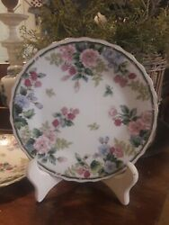 2 Andrea By Sadek Floral Grapes Plate 7.5 French Country