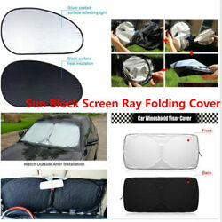 6PC Set Windshield Sun Shade Visor Heat Block Screen Ray Folding Cover Universal $26.25