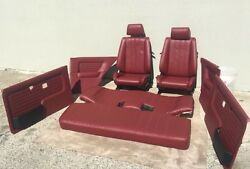 Bmw E30 325/318 New Cardinal Red Seats Set And Cards For Is And I 1982-912900.00