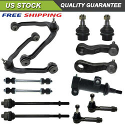 13pc 6 Lug 4wd Front Upper Control Arm Lower Ball Joint Tierod Pitman Idler Arm