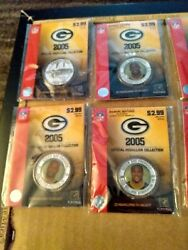 Nfl Green Bay Packers 2005 Team 11 Pin Set Favre, Rodgers, Driver,kgb