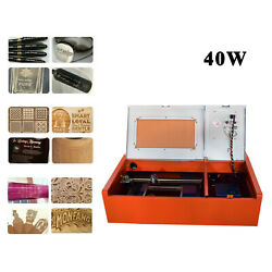 12x8inch 40w Co2 Wood Laser Engraver Engraving Cutter Machine With Exhaust Fan