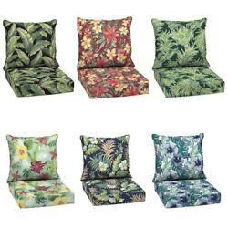 Outdoor Deep Seat Chair Patio Cushions Set Pad Uv And Fade Resistant Furniture 24