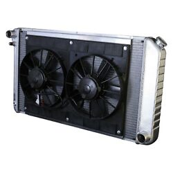 For Chevy Camaro 70-81 Dewitts Direct Fit Pro-series Aluminum Radiator W Fan