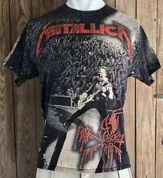 Metallica Men's XL Tshirt Stage Right All Over Print Both Side Concert Tour 2011
