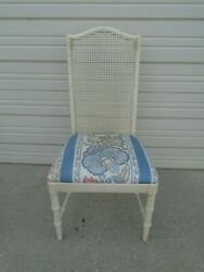 Faux Bamboo Dining Chair Hollywood Regency Desk Vanity Dixie Cane Wicker Aloha