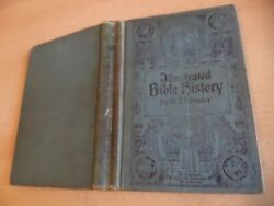 Illustrated Bible History Old Antique Book Dr Schuster 1913 Pope Pius Childrens