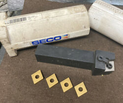 Seco Carboloy 1-1/4andrdquo Metal Lathe Tool Holder Mcrnl85-6d Diamond Inserts Cnm_643
