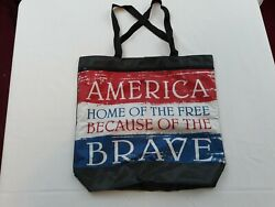 AMERICA HOME OF THE FREE ACCESORY CARRYING BAG WITH PATRIOTIC DESIGN $3.99