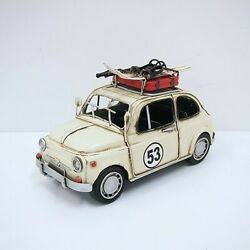 Diecast Antique Car Model Good Quality Micro Mini Toy Cars Fiat 500 Handcrafted
