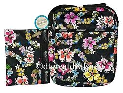 New Lesportsac Hawaii Exclusive Edna Olina Slim Travel Bag W/pouch 7279 K530 P2