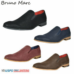 Bruno MARC Mens Casual Shoes Suede Leather Slip On Fashion Loafers Boat Shoes $16.00