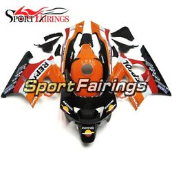 Repsol Orange Black Abs Fairing For Honda Cbr600f3 1997 1998 97 98 Bike Bodywork