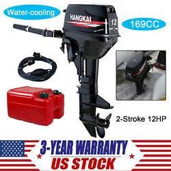 Hangkai 12hp 2 Stroke Outboard Motor Boat Engine With Water Cooling System 169cc