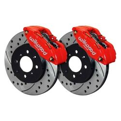 Wilwood Dpha Front Caliper And Rotor Kit Drill Red Honda / Acura W/ 262mm Oe Rotor