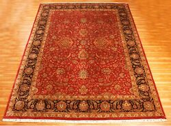 Hand Knotted Wool Area Rug Indian Handmade Oriental Hotel Office Carpet 9x12 Ft