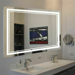 Anti Fog Dimmable LED Bathroom Vanity Mirror Large Wall Makeup Mirror with Light