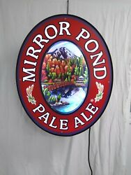 Large Mirror Pond Pale Ale Electric Light Sign - Man Cave -Tavern Pool Hall Zeon