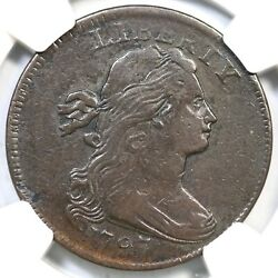 1797 S-129 R-5 Ngc Vf Details Draped Bust Large Cent Coin 1c